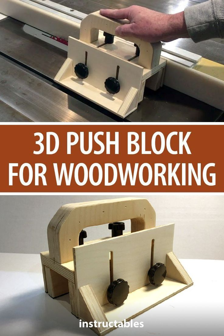 Make a 3D push block for your woodworking projects…