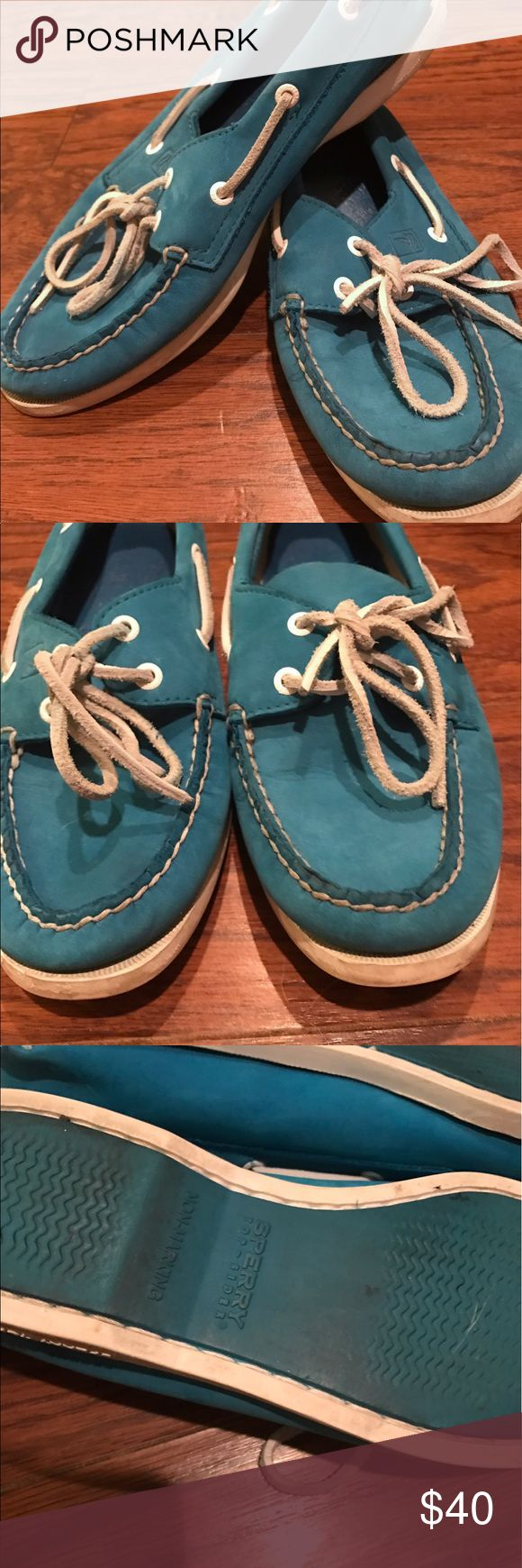 Selling this Sperry Topsiders Turquoise on Poshmark! My username is: kthigpen. #shopmycloset #poshmark #fashion #shopping #style #forsale #Sperry #Shoes