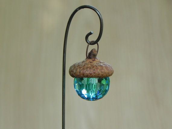 Fairy Garden Acorn Cap Lantern robin's egg by TheLittleHedgerow                                                                                                                                                                                 More