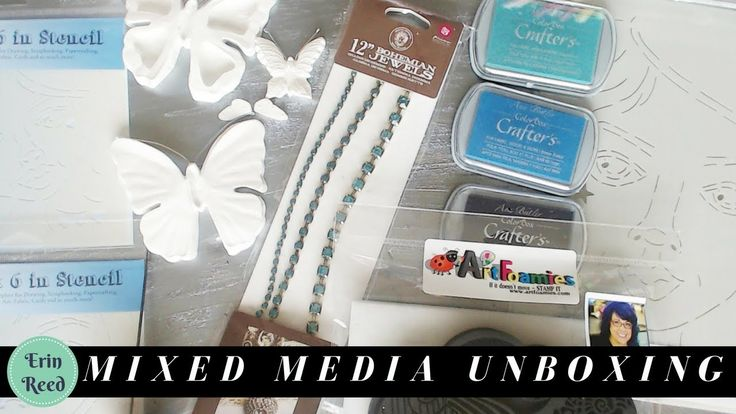 Rhinestones, Butterflies, Stamps, and more - Mixed Media Unboxing