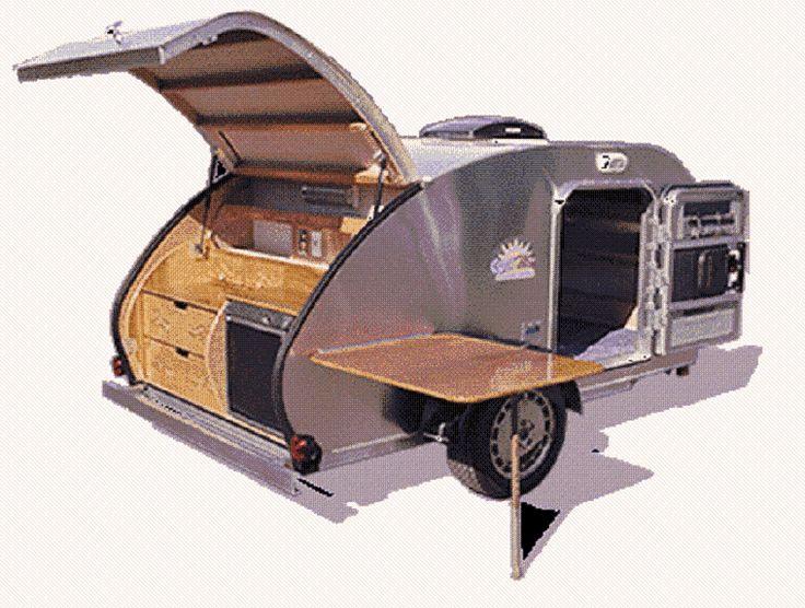 En forma de lágrima Tear Drop planes Camper Remolque Rv Pop-up Caravan cómo construir su propio