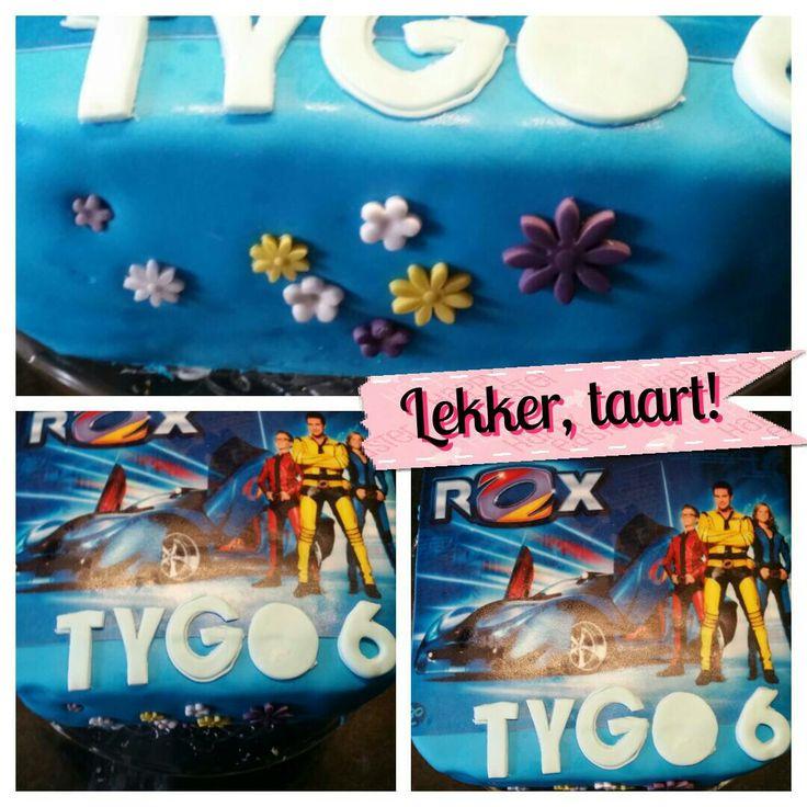 Rox taart. Zelfgemaakt door Tygo.