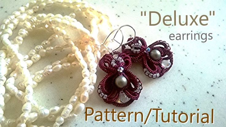 Deluxe earrings - Ankars Tatting PATTERN/TUTORIAL by AnaIuliaTattingLace on Etsy