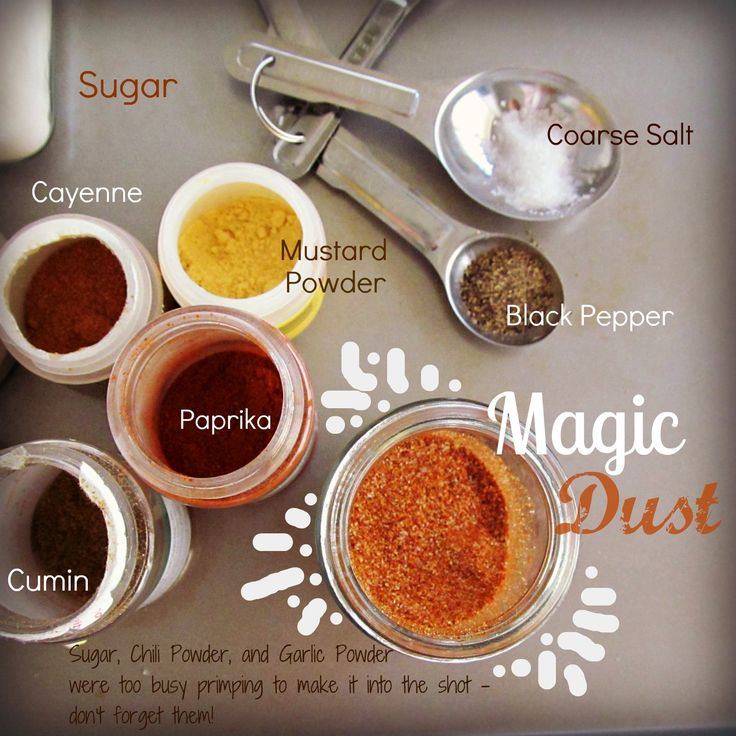1/4 cup paprika 2 tablespoons coarse salt 2 tablespoons granulated sugar 1 tablespoon mustard powder 2 tablespoons chili powder 2 tablespoons ground cumin 1 tablespoon ground black pepper 2 tablespoons garlic powder 2 teaspoons cayenne pepper  Good for baked beans, rub for meats, grilling, etc.