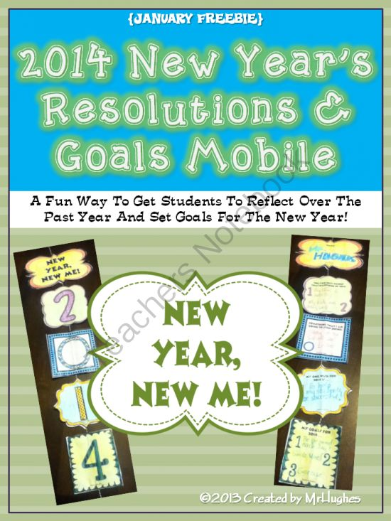 New Years Resolutions and Goals Mobile FREEBIE from MrHughes on TeachersNotebook.com -  (9 pages)  - Those first few days back from winter break can be difficult, but with the great interactive FREEBIE in your corner, you are sure to have them focused and ready to learn in no time.