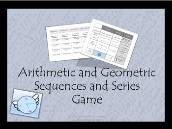 If your students need practice on writing formulas, finding the nth term, and determining the type of sequence for arithmetic and geometric patterns, then this will be great practice for them. This activity can be done as a game similar to tic-tac-toe or