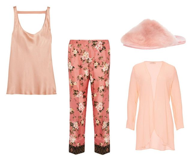 """Pretty Pink Pajamas"" by mgbutler ❤ liked on Polyvore featuring Araks, F.R.S For Restless Sleepers, Ted Baker and Vera Mont"