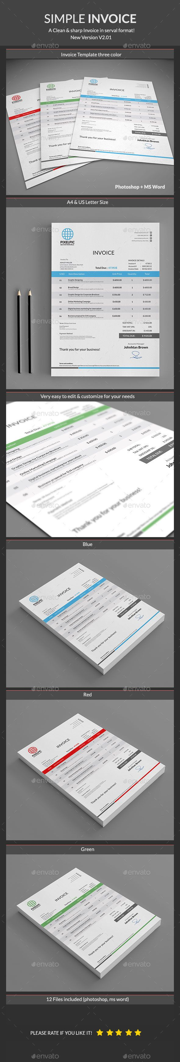 Invoice Template PSD Download here httpgraphicrivernetitem 72