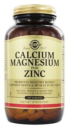Solgar Calcium Magnesium Tablets, 250 Count
