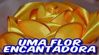 Flor de Fita de Cetim Fácil - Easy Satin Ribbon Flower - YouTube