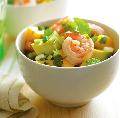 Shrimp Mango Avocado Salad.