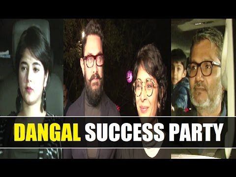 DANGAL success party with cast and crew at Aamir Khan's Panchgani bungalow.
