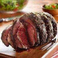 Beef Ribeye Roast with Garlic-Thyme Rub by @mytexaslife