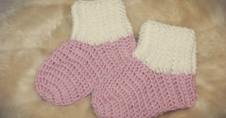 Camslykke: Oppskrift på heklede baby sokker/tøfler