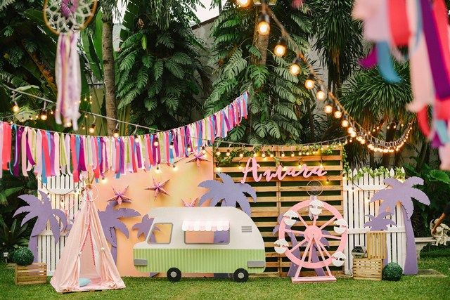 Amara's Coachella Themed party – Main setup
