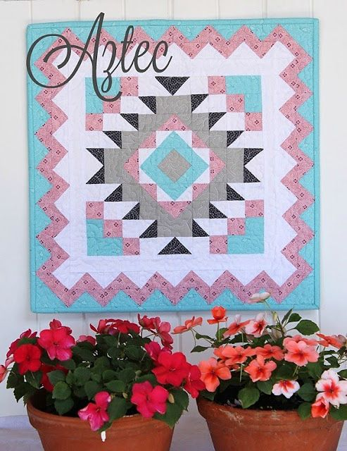 Threadbare Creations- Aztec Mini Quilt