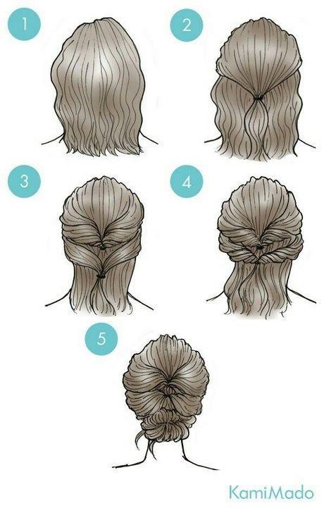 Einfache Alltagsfrisuren für kurzes Haar #flechtfrisuren #dünnehaare #festlich… – Haare