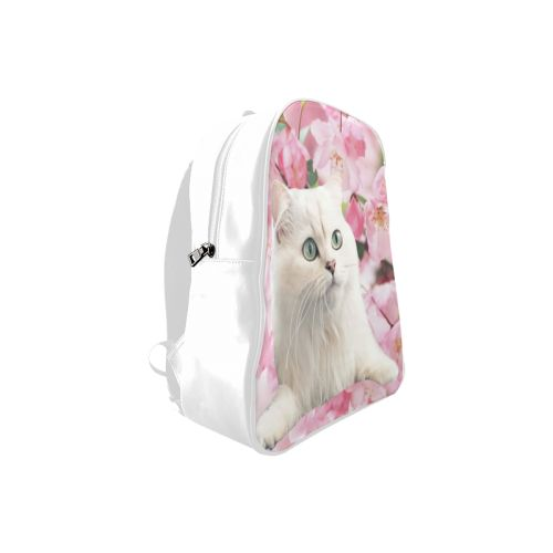 Cat and Flowers School Backpack. FREE Shipping. #artsadd #lbackpacks #cats