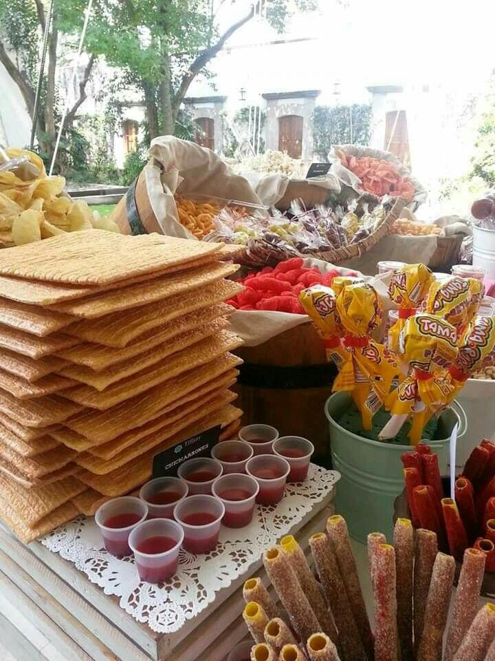 Mexican snack table quinceanera pinterest mexican - Table snack bar but ...