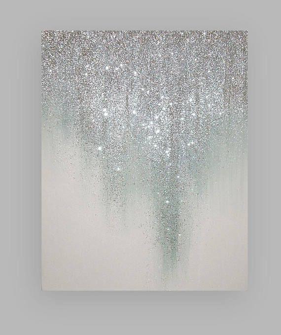 Original Ora Birenbaum Painting Art Metallic Abstract Art Fine Gallery Painting On Canvas Title Island Getaway 36x48x1 5 Glitter Canvas Diy Canvas Diy Wall Art