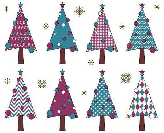 Christmas Trees Clip Art Xmas Trees Clipart Christmas Etsy Christmas Tree Wallpaper Cute Christmas Decorations Christmas Tree Art