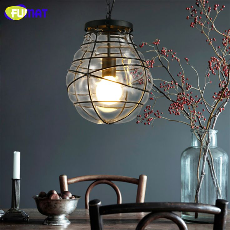 ==> [Free Shipping] Buy Best FUMAT Loft Pendant Lamp Glass Shade Pendant Light Vintage American Style Corridor Kitchen Bar Stair Hanging Lamp Dia28cm Online with LOWEST Price | 32790381974