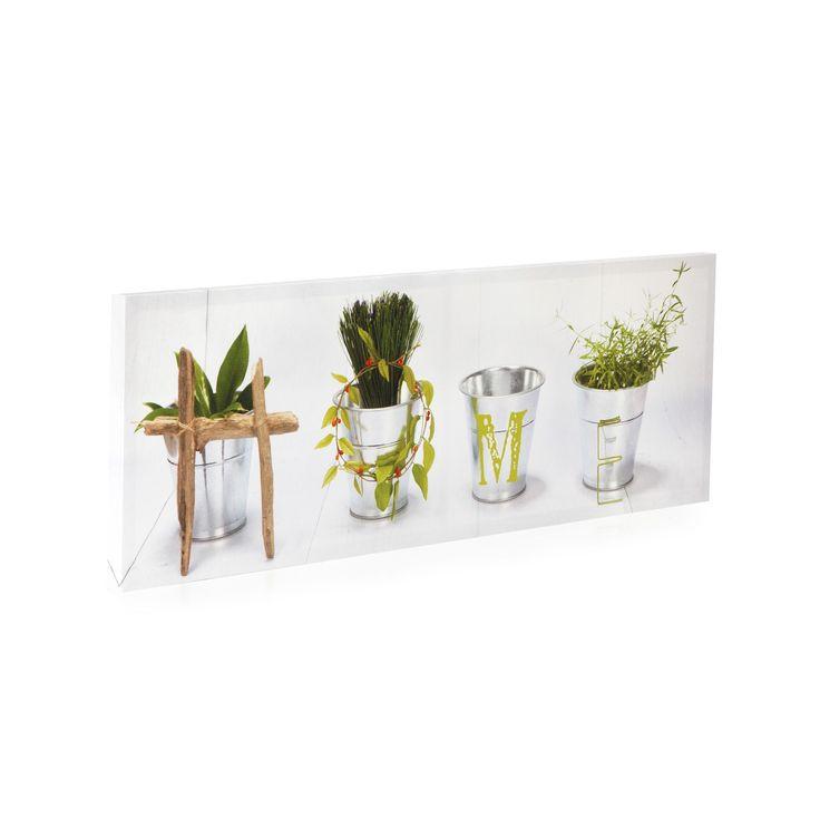 Toile rectangulaire 90x30cm home blanc herb les toiles décoratives affiches et