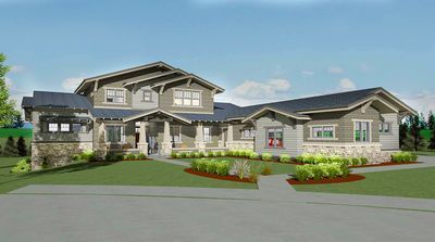 Craftsman House Plan with Huge Finished Lower Level - 64434SC thumb - 01