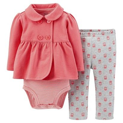 Just One You™Made by Carter's® Newborn Girls' 3 Piece Owl Set