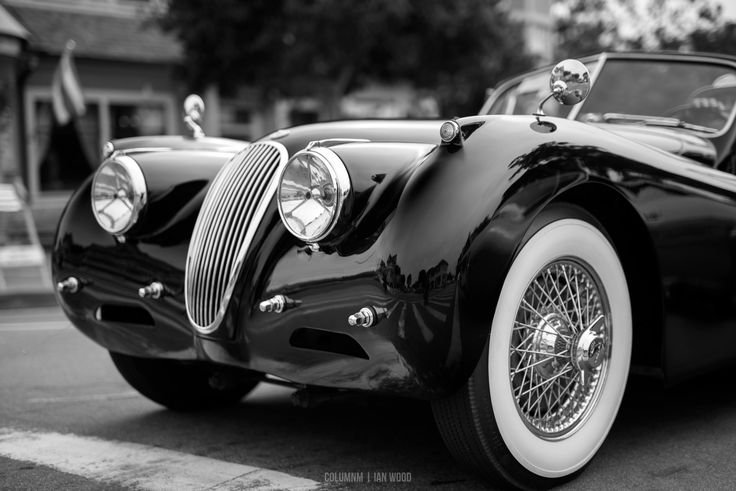 Jaguar XK120 at the Pacific Grove Auto Rally #MontereyCarWeek #ClassicCars #CarShow #jaguar