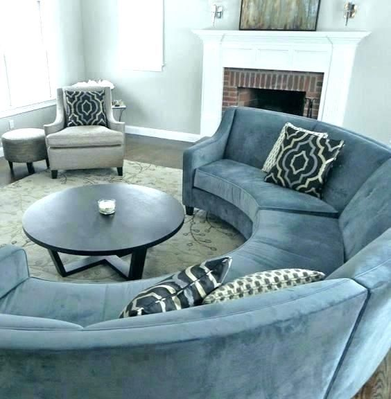 Circular Sectional Couch Half Circle Couches Semi Sofa Satisfying Round Also Modern Line Curved Sofas Canada