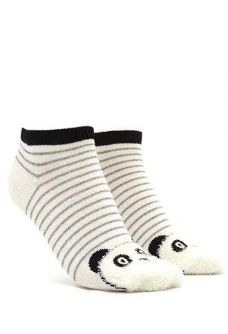 Fuzzy Panda Socks | Forever 21 - 2000142234