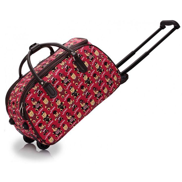 Barva červená. Velikost: 51 x 37 cm. Lze použít jako příruční zavazadlo do letadla. Uzavírání na zip.