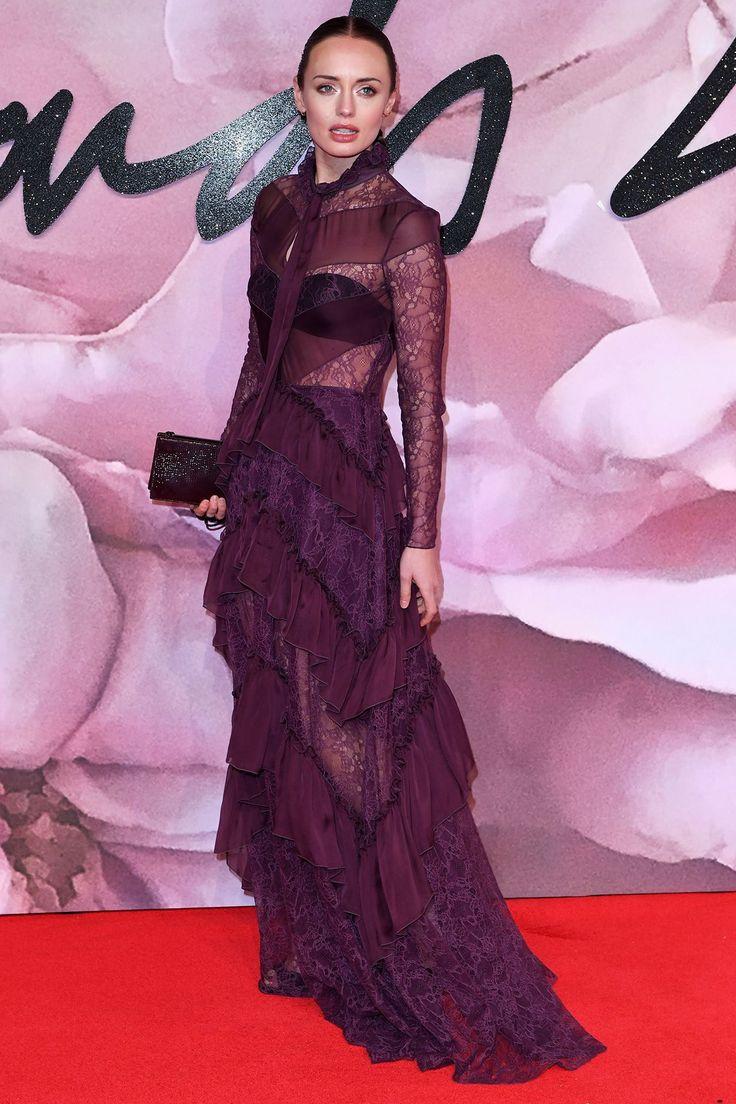 Laura Haddock - Fashion Awards Arrivals, London - December 5 2016