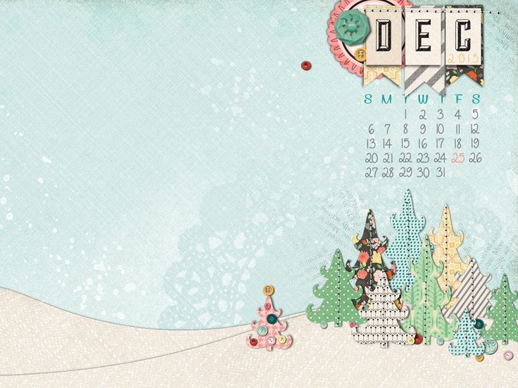 Happy Crafters Will Love This December 2015 Calendar Desktop Wallpaper To Keep You In The Spirit