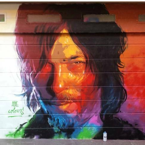 Axe Colours in Gracia, Barcelona, Spain, 2017