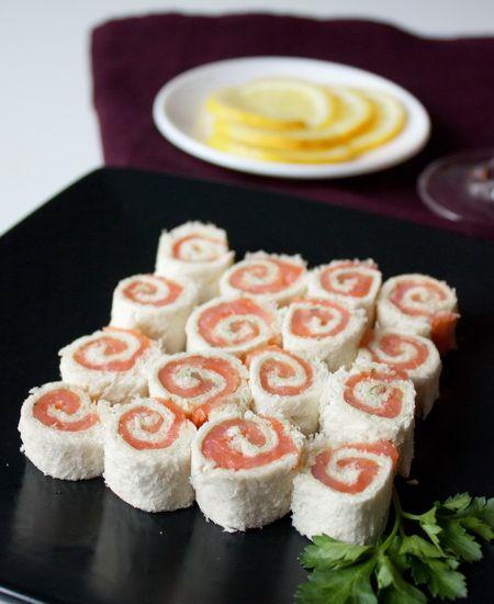Рулетики из лосося с белым хлебом и сливочным сыром   Холодные закуски   Рецепты   Online.ua