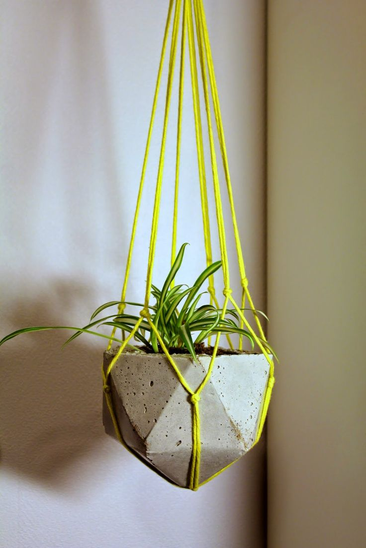 Concrete / cement geometric plant holder.