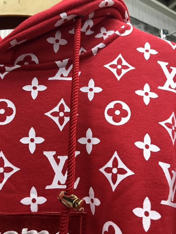 UA Replica Supreme X Brand hoodie in RED in 2019  155dd5e25dc9