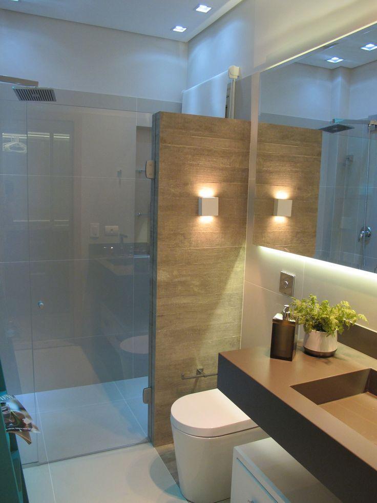 Wood Wall With Light   Bathroom Design
