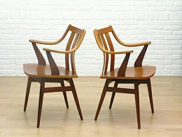 Vintage retro deens design jaren scandinavisch stoelen