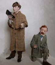 1/12th scale figures dressed in cotton, paper and leather.