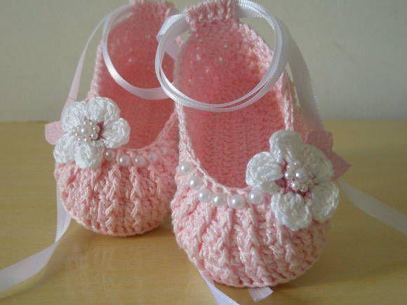 156 best Crochet Baby Booties images on Pinterest | Baby models ...