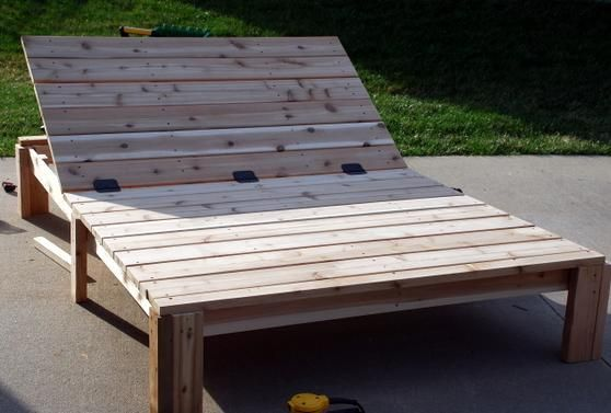 Great plans for double lounge chair i would want to make for Build outdoor chaise lounge