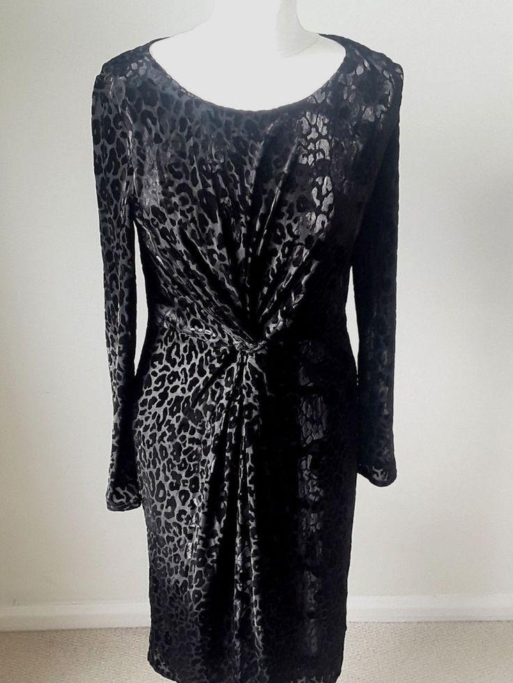 Black devore Laura Ashley Dress #LauraAshley #Party