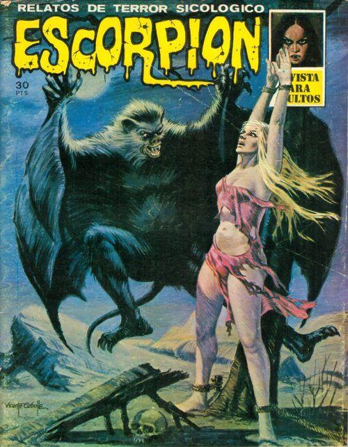 Escorpion magazine cover art by Vincente Cabollo aka Alessandro Biffignandi