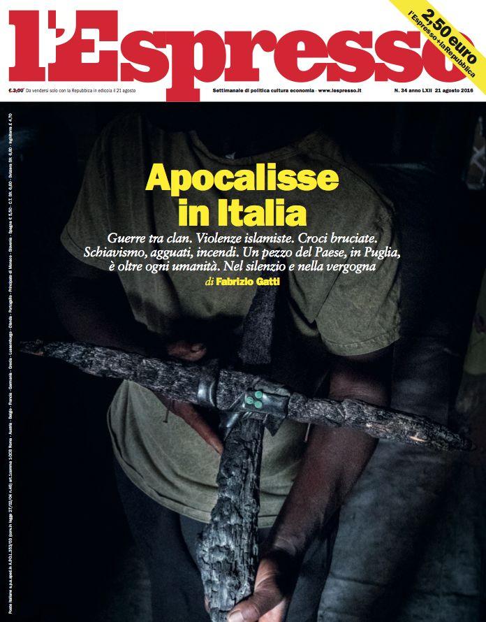 La copertina dell'Espresso in edicola domenica 21 agosto
