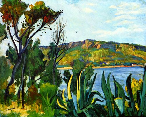 """""""Vue d'Agay"""", 1905, Albert MARQUET. #Marquet #landscape"""
