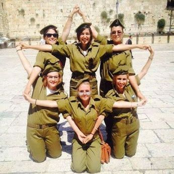 Fearless girls of the Israeli army making a Star of David! #israel #idf                                                                                                                                                                                 More