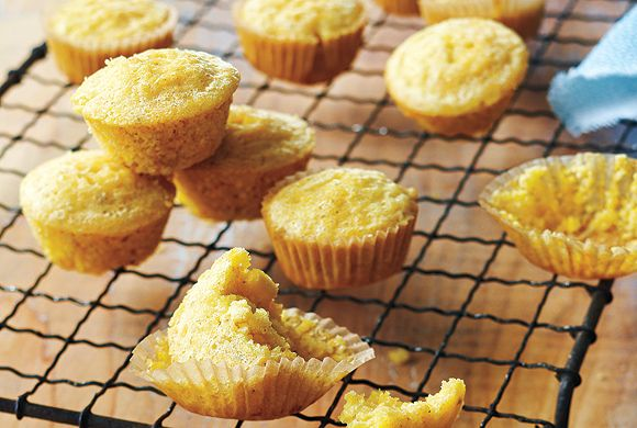 Lightened-Up Mini Corn Muffins